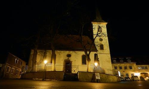 Kostenloses Stock Foto zu kirche, kirchturm, nacht