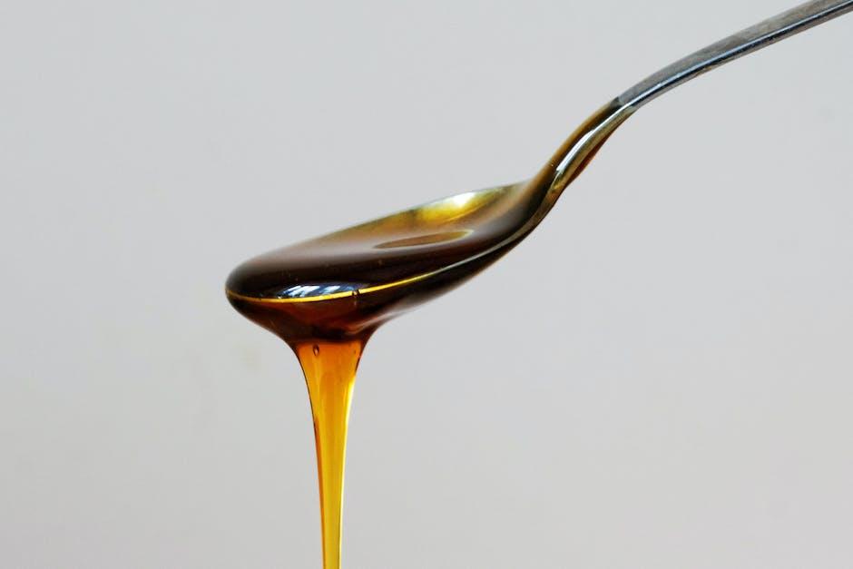 food, honey, spoon