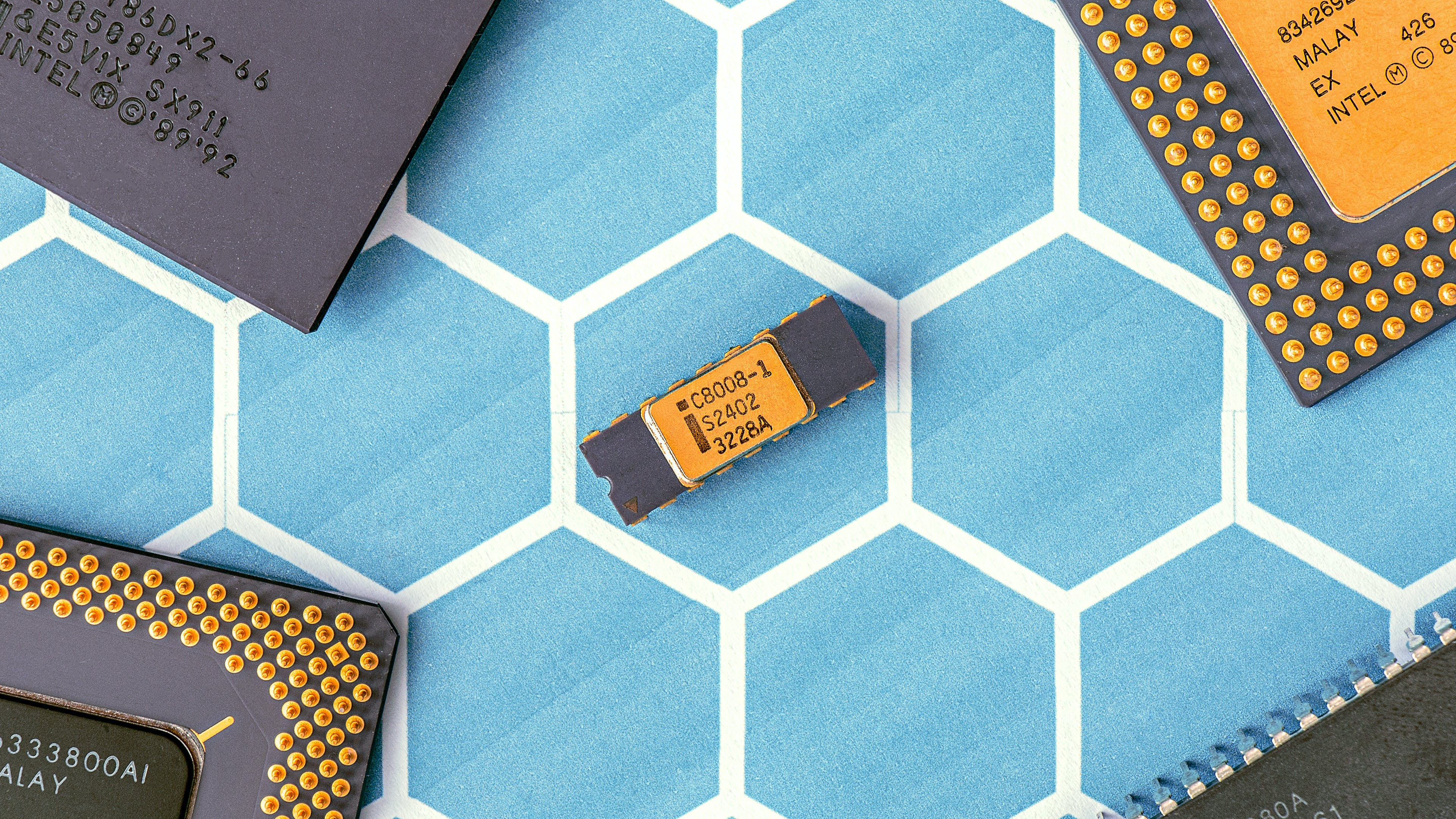 Black and Yellow Electronic Chip