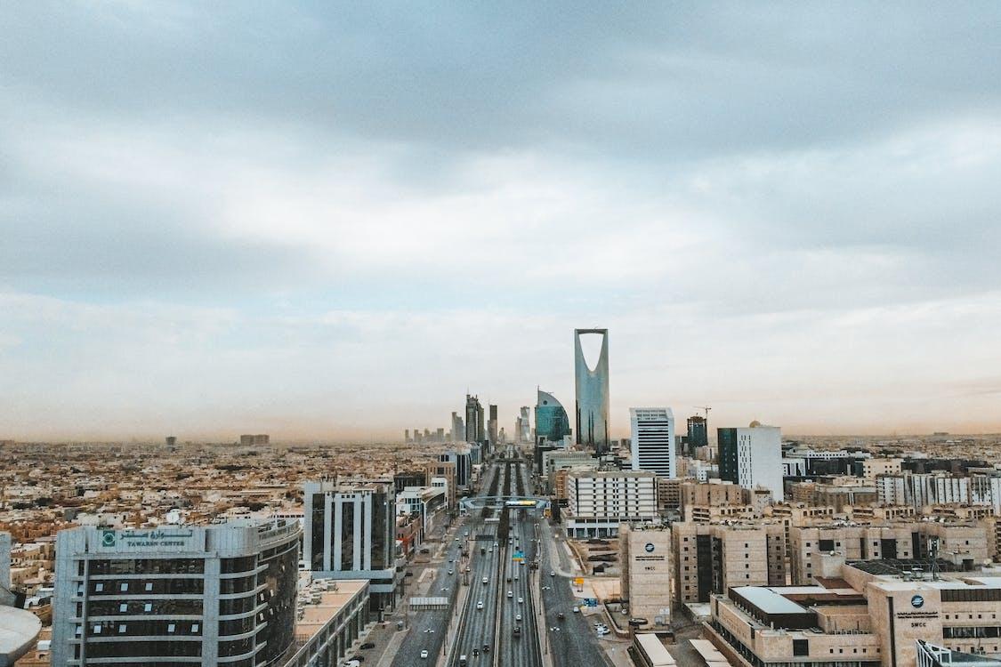 City Buildings Under White Sky