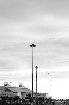 Monochrome Photography of Commercial Establishment