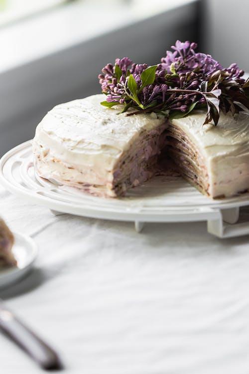 Sliced Cake on White Ceramic Plate