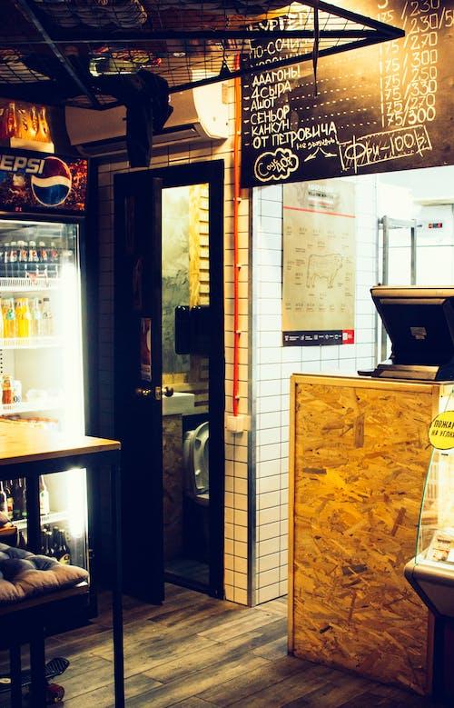 bar, ışıklar, Menü, mimari içeren Ücretsiz stok fotoğraf