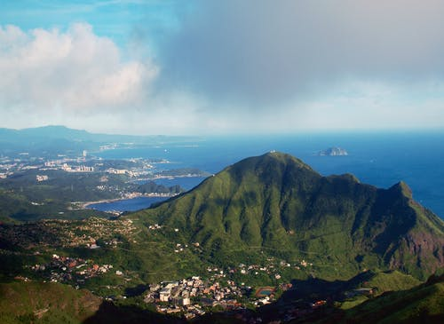 Free stock photo of aerial view, jinguashi, mountains