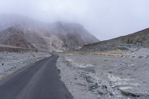 Gray Asphalt Road Near Gray Mountain