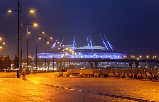 Free stock photo of landscape, lights, night, stadium