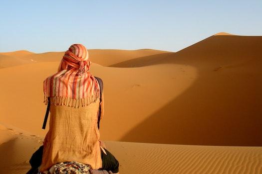 Person Camel Riding On Desert
