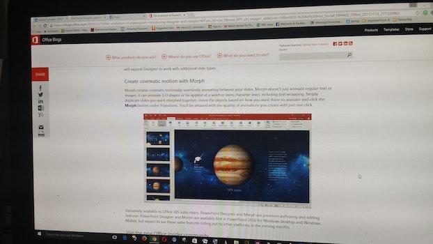 Free stock photo of designer, tools, intelligent, powerpoint