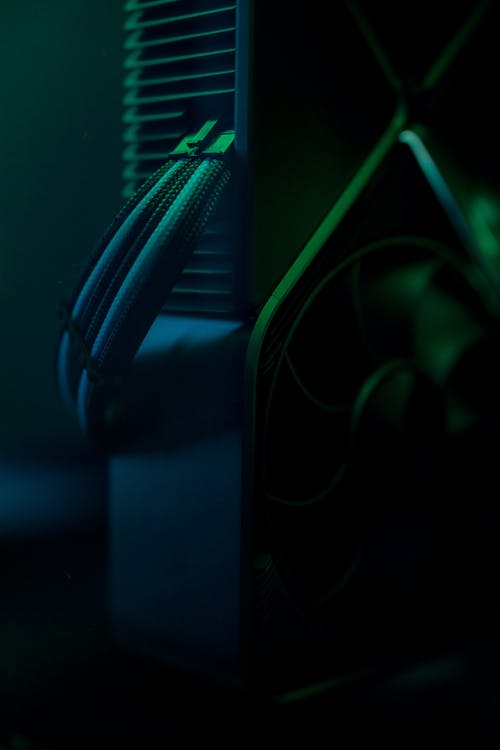 Blue and Green Neon Light
