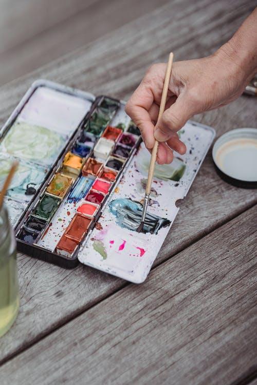 Kostenloses Stock Foto zu aquarell, bunt, farben