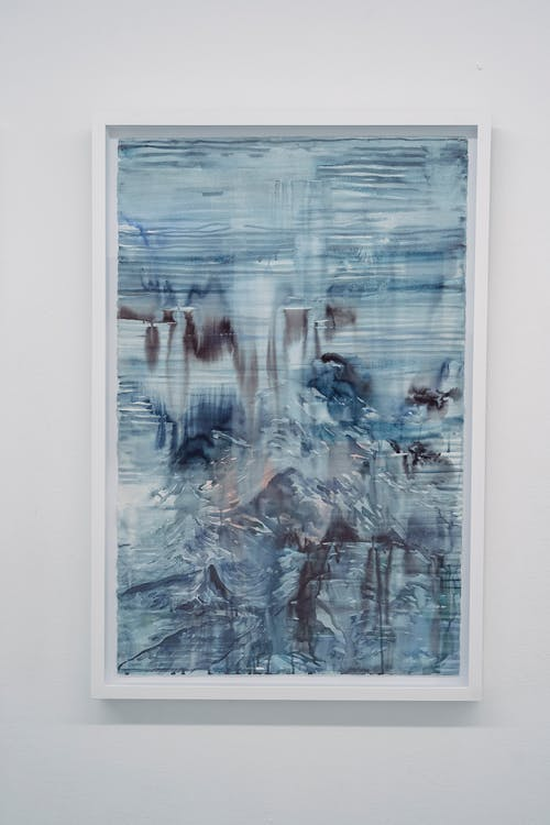 An Abstract Painting Hanged on the Wall