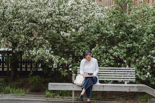 Foto profissional grátis de artista, assento, Banco