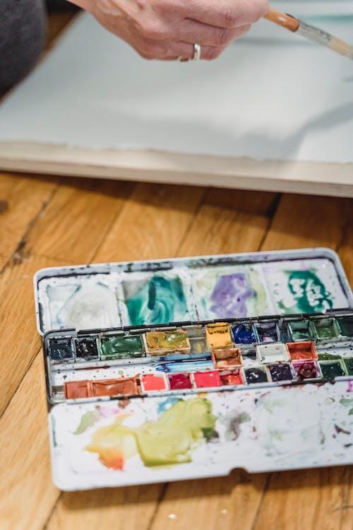 Une Palette D'aquarelle Usagée