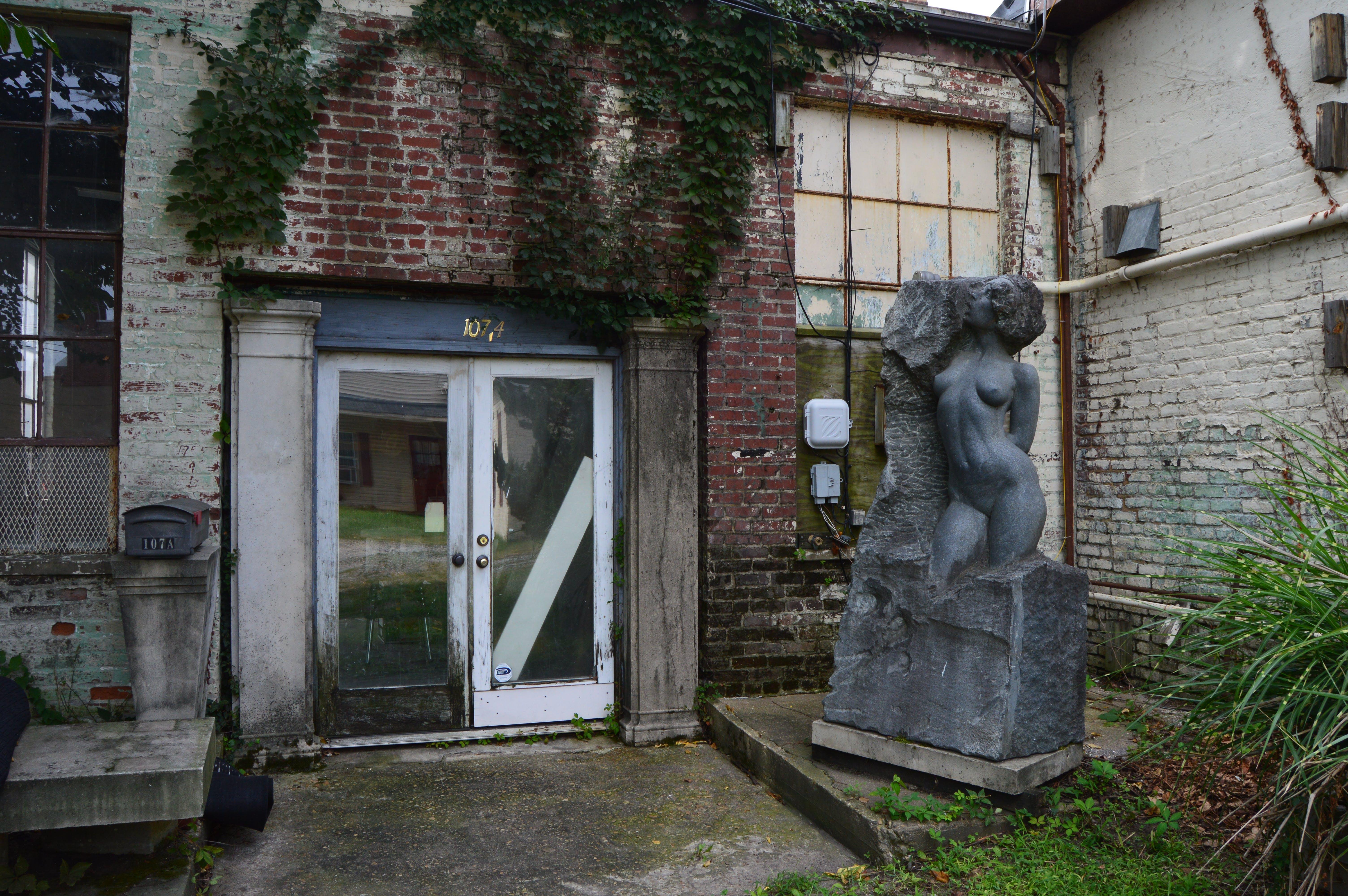 Free stock photo of alley, art studio, back, brick