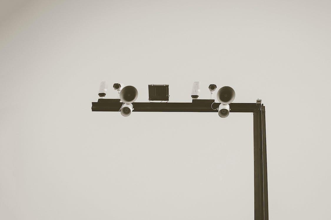 White Surveillance Cameras