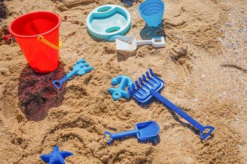 Blue Plastic Bucket and Blue Plastic Bucket