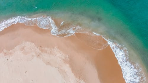Aerial View of Sea Waves