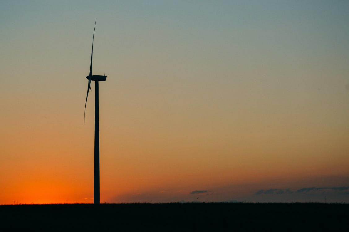 Silhouette Photography of Electric Windmill
