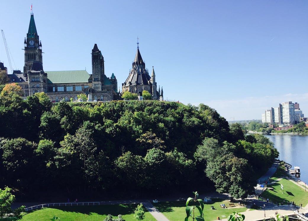 国会大厦, 渥太华, 渥太华河 的 免费素材图片