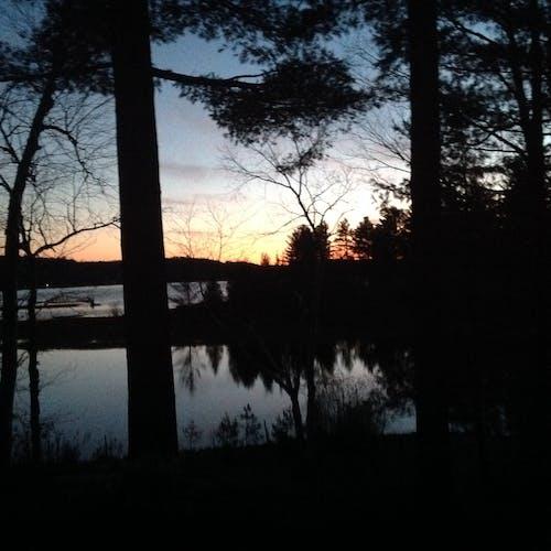 在河上的日落 的 免费素材图片