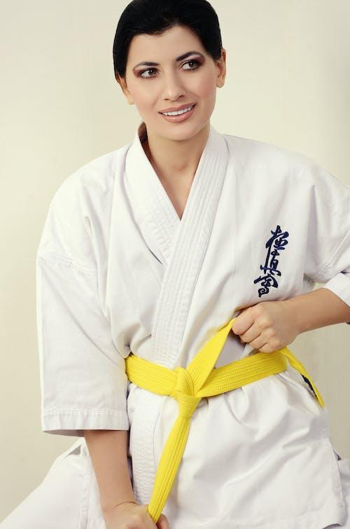 A Smiling Woman Wearing a Karategi