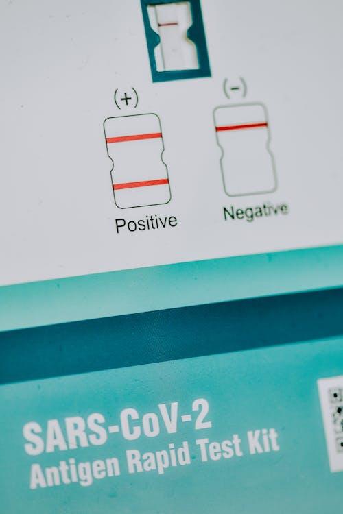Close-Up Photo of a SARS-CoV-2 Antigen Rapid Test Kit