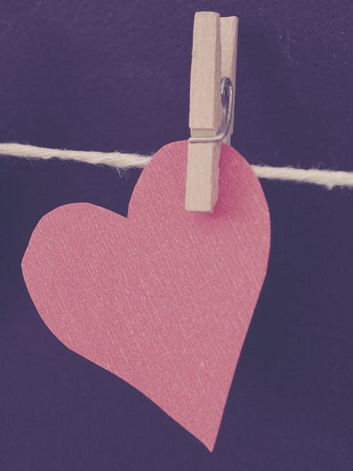 Photo of Clipped Heart-shaped Red Paper