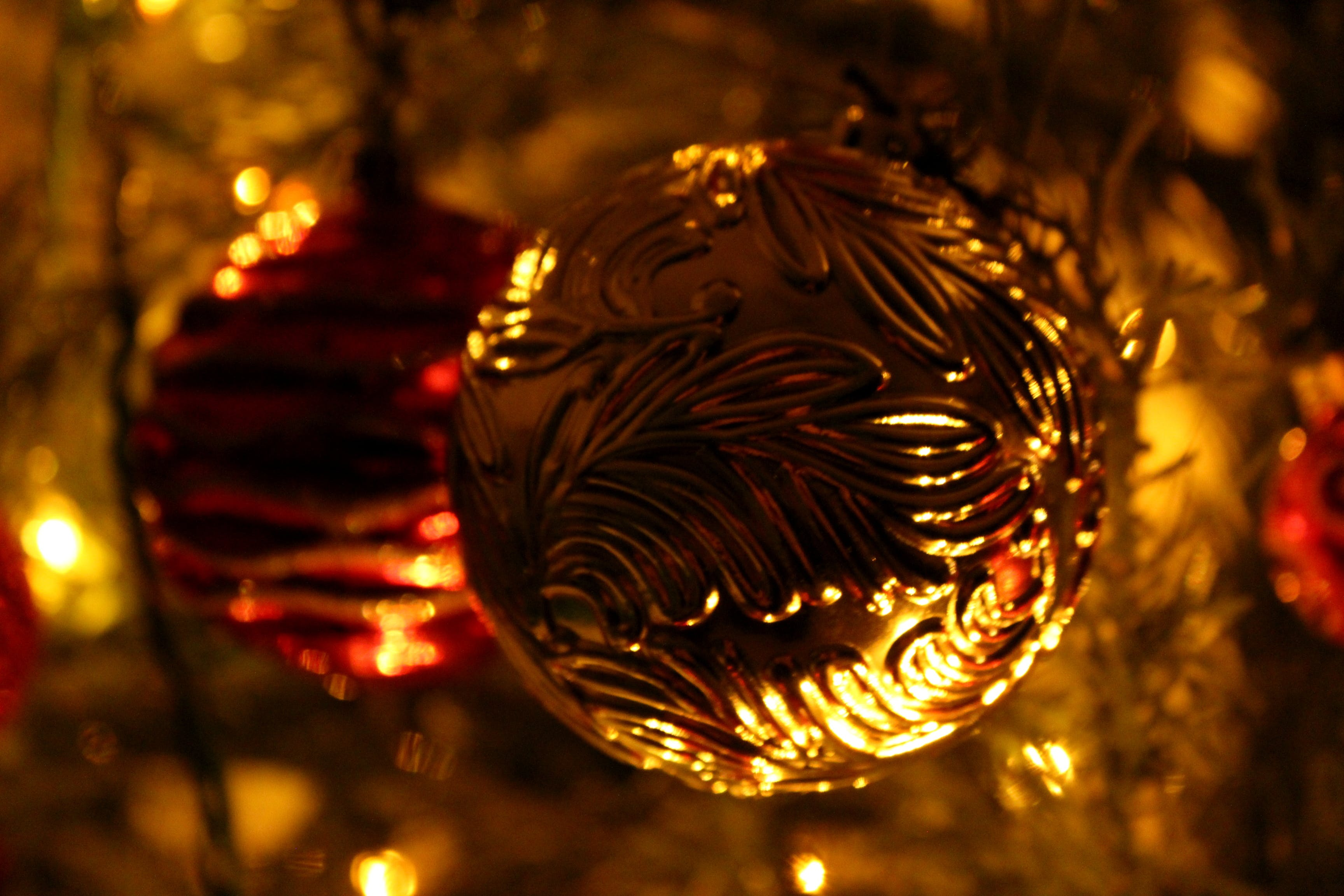 Free stock photo of christmas, lights, night, ornaments