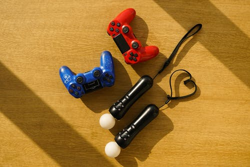 Blue and Red Sony Ps 4 Controller