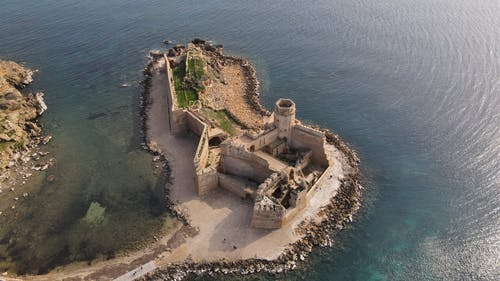 A Scenic View of the Aragonese Castle of Le Castella