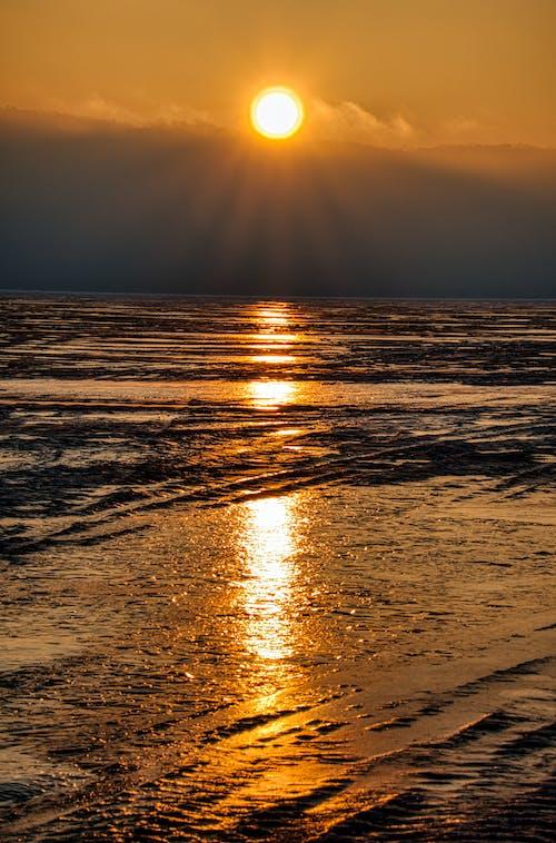 Darmowe zdjęcie z galerii z lód, odbicie, wschód słońca