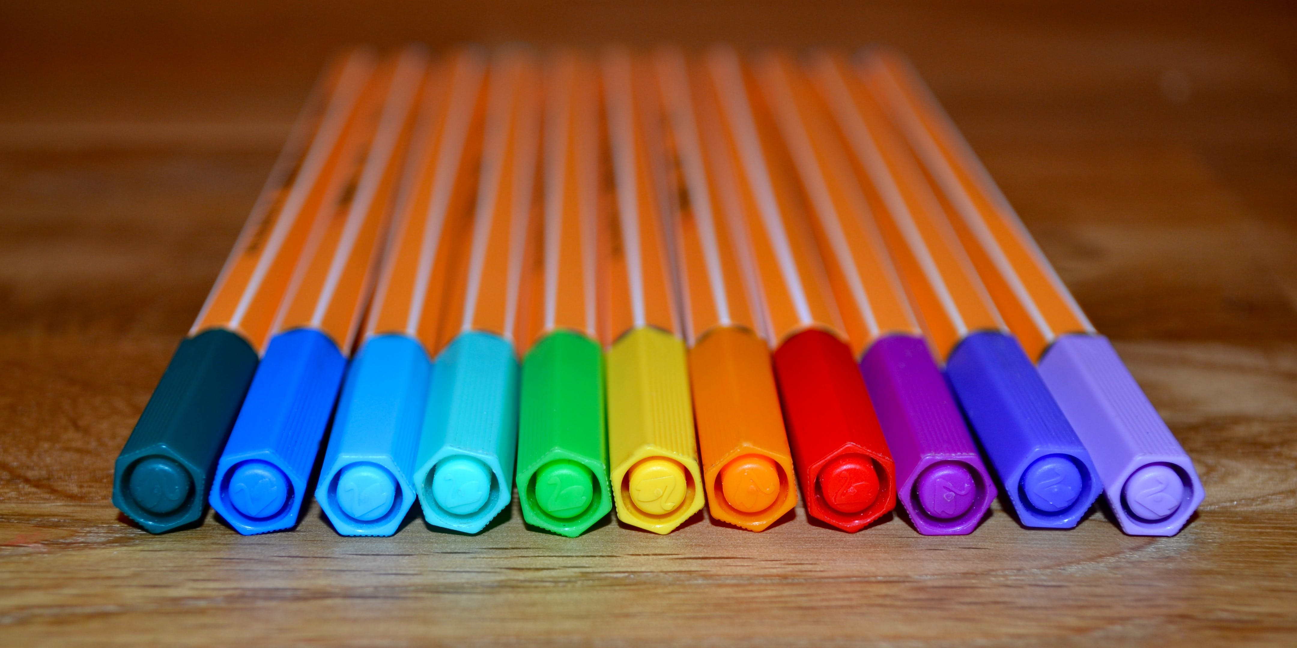 Free stock photo of pen, colors, theme colors