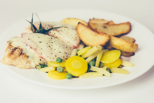 Free stock photo of food, vegetables, dinner, chicken