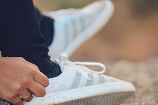 Close-Up Photography of Adidas Shoe