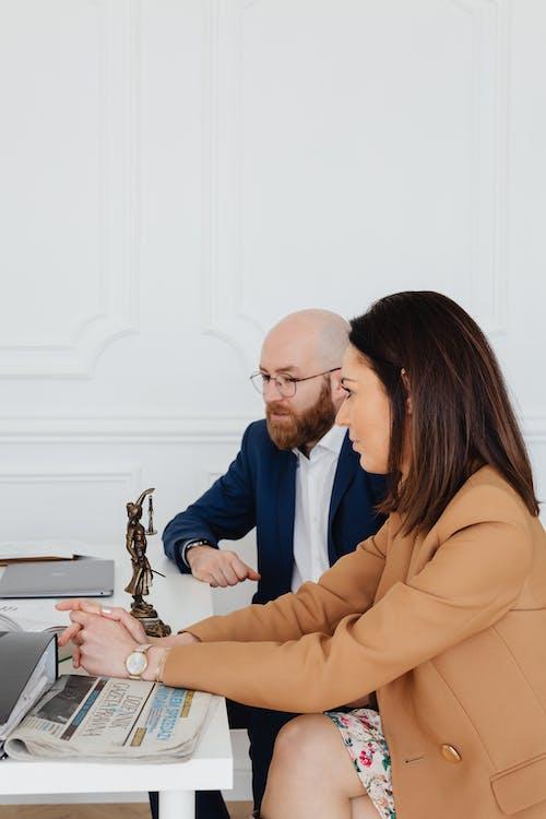 A Couple Filing a Divorce