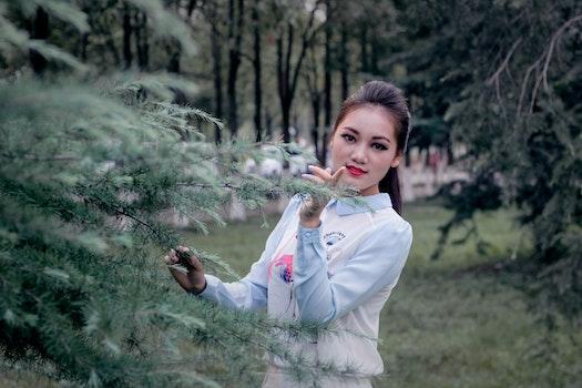 Free stock photo of girl, women, garden, lawn