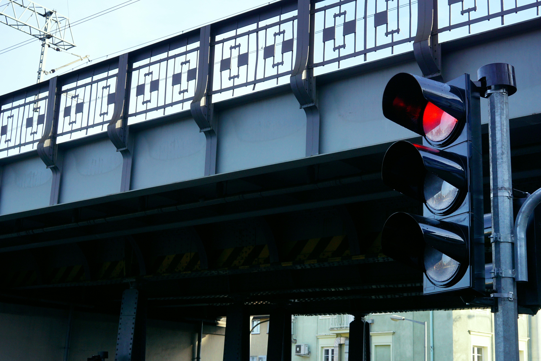 シティ, トラフィック, ブリッジ, 信号の無料の写真素材