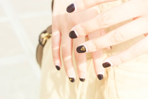 Free stock photo of beautiful, bright, diamond pattern, female nails