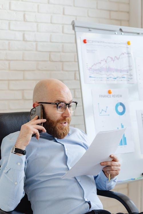 Kostenloses Stock Foto zu aktienmarkt, anruf, bestände