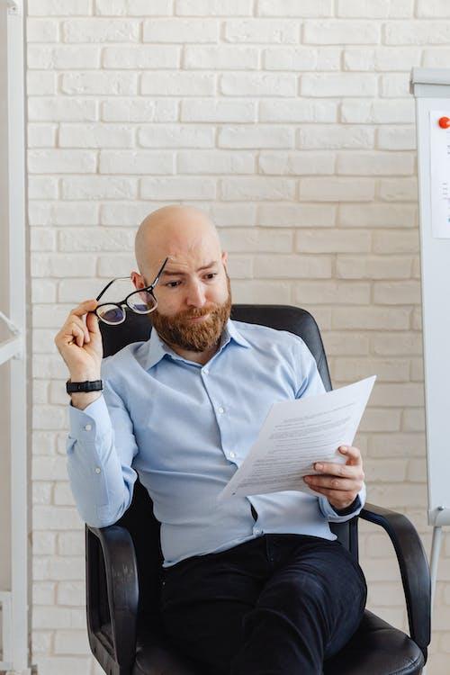 기술, 남자, 대머리의 무료 스톡 사진
