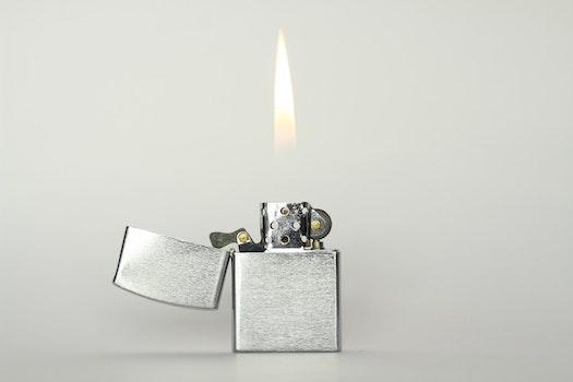 Grey Flip Top Lighter