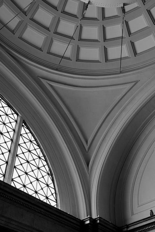 Gray and White Concrete Ceiling