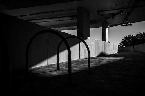 Free stock photo of black and white, street, sunlight