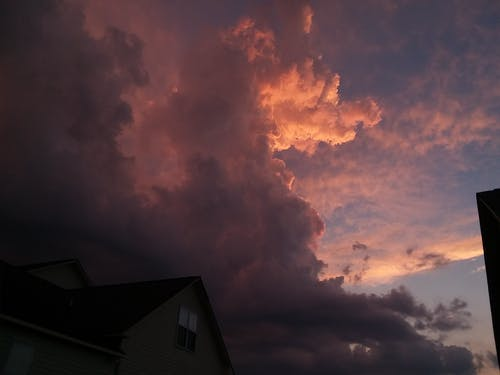 Free stock photo of storm, sunset, weather