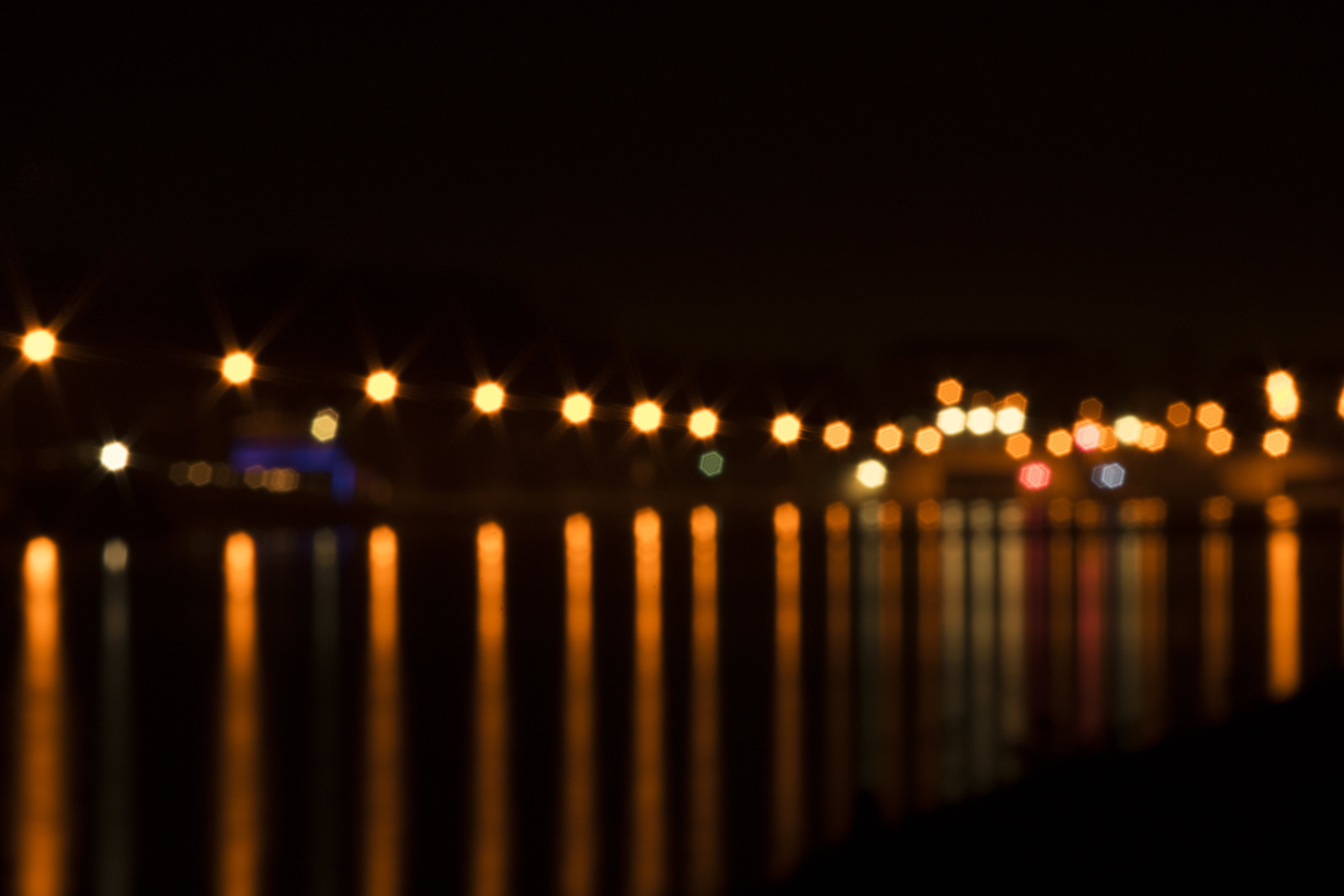 Free stock photo of bokeh, canal, landing stage, lantern