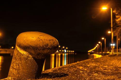 Základová fotografie zdarma na téma kanál, lampion, loď, noc