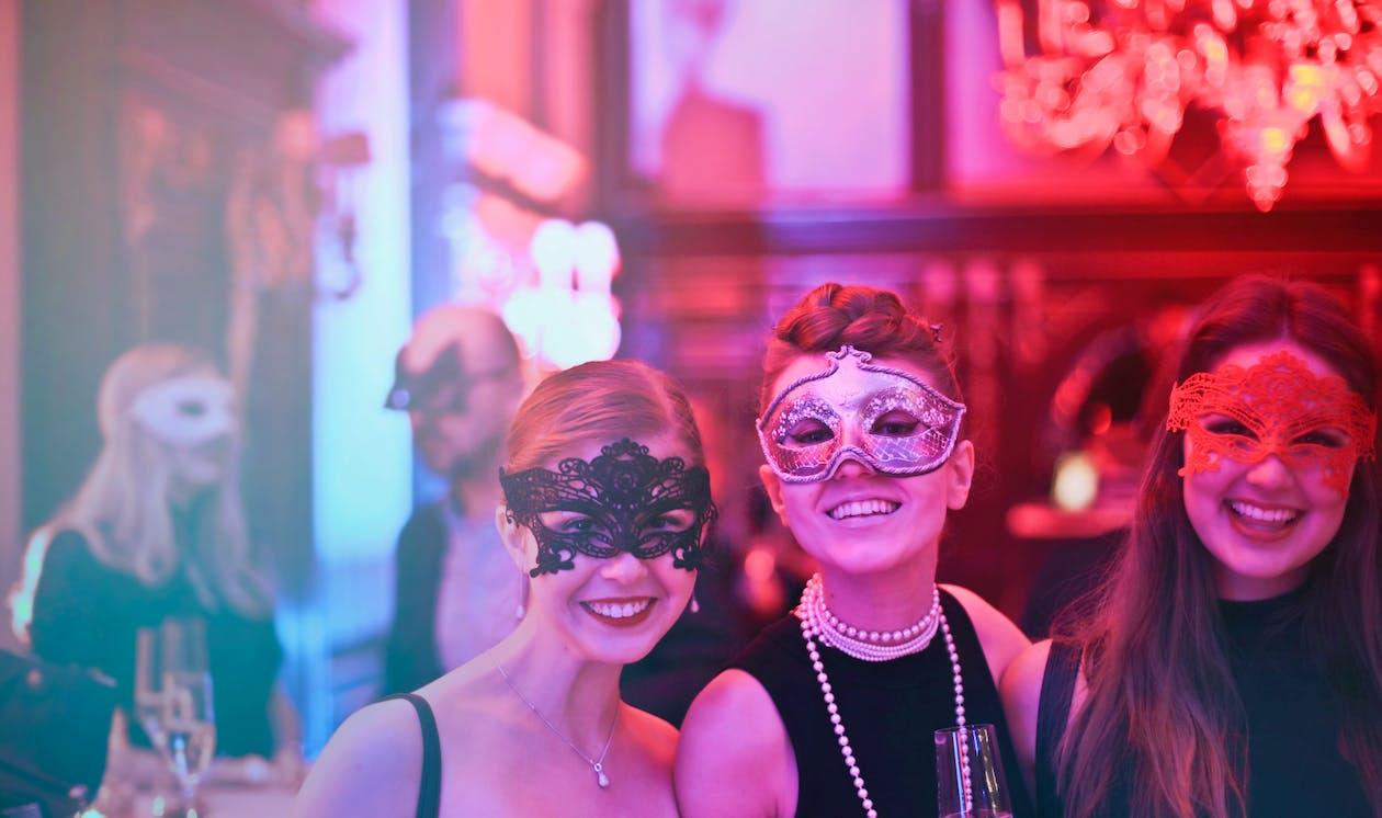 Photo of Women Wearing Eye Mask