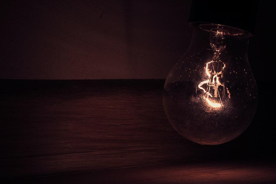 dark, light, light bulb