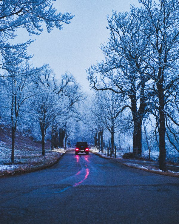 Free stock photo of blue, car, road