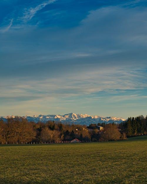 akşam Güneşi, Alpler, arazi içeren Ücretsiz stok fotoğraf